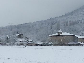 La ferme de Brigaudière en hiver